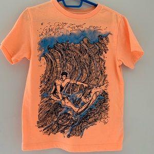 5 for $20 👕 EUC Bright orange surf T-shirt size 4